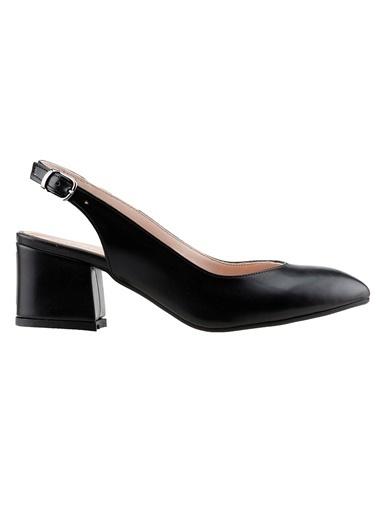 Ayakland Ayakland 97544-307 Cilt 5 Cm Topuk Bayan Sandalet Ayakkabı Siyah